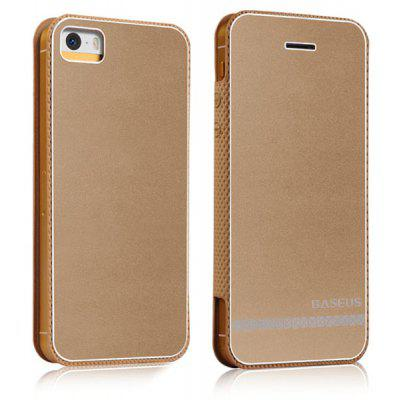 Baseus Elegant Style PU and Aluminum Material Protective Cover Case for iPhone 5 / 5S