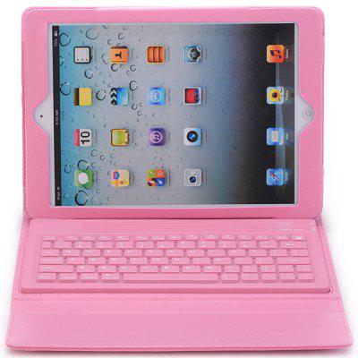 Cool Style Silicone Bluetooth Keyboard + PU Leather Case for iPad Air ( iPad 5 )
