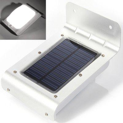 CIS-57235 Voice Sensor 16-LED Solar Powered Garden Lamp Wall Mounted Lamp - White Light