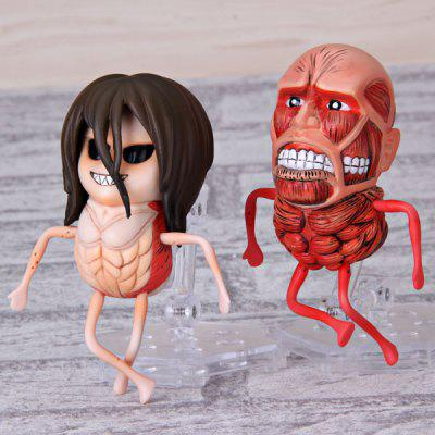 Egg Size Random Patterns Cartoon Model Anime Attack On Titan Character with Random Shape (2 pcs)