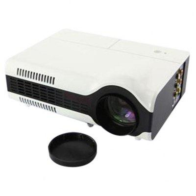 LED2+ 1500 Lumens LCD 800 x 600 Portable LED Home Theater Projector  16: 9 Aspect Ratio Support AV/VGA/HDMI/USB/Video/TV