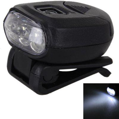 Hot Sale No.8002 Ultra Bright 3LD Adjustable Clip Headlamp Cap Lamp for Outdoor