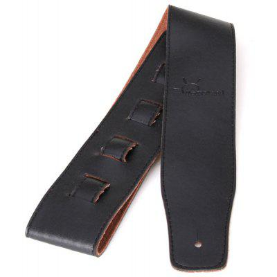 Durable Adjustable Homeland Black PU Leather Guitar Shoulder Strap