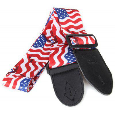 HL-805 Practical Guitar Parts US Flag Pattern Adjustable Buckle Strap for Guitar