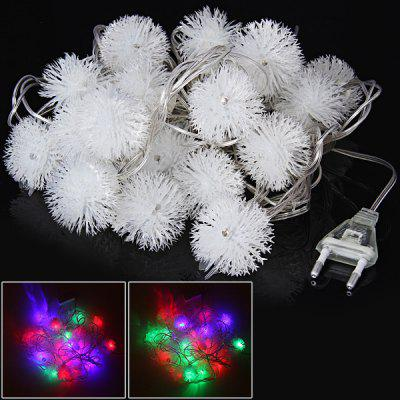 Fantastic 20LED 4M RGB Dandelion-shaped String Light for Christmas Decoration - 220V