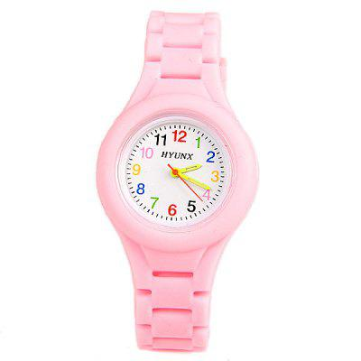 Colorful Numbers Display Watch with Round Dial and Silica Gel Band for ChildrenKids Watches<br>Colorful Numbers Display Watch with Round Dial and Silica Gel Band for Children<br><br>Available Color: Pink<br>Band material: Silica Gel<br>Case material: Other<br>Clasp type: Pin buckle<br>Movement type: Quartz watch<br>Package Contents: 1 x Watch<br>Package size (L x W x H): 23.00 x 3.50 x 1.00 cm / 9.06 x 1.38 x 0.39 inches<br>Package weight: 0.075 kg<br>Product size (L x W x H): 23.00 x 3.40 x 1.00 cm / 9.06 x 1.34 x 0.39 inches<br>Product weight: 0.025 kg<br>Shape of the dial: Round<br>Special features: Three needle<br>The dial diameter: 3.4 cm<br>The dial thickness: 1 cm<br>Watch style: Lovely<br>Watches categories: Children watch<br>Water resistance: Life waterproof