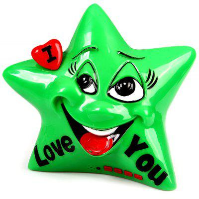 F20A Five - pointed Star Cartoon Portable Digital Speaker Support USB TF Card
