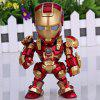 Super Cool American Hero Funny Body Design Funny Appearence Iron Man with Movable Joints Figure Model Q Version for sale