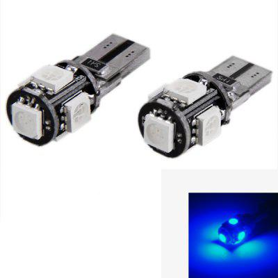 Pair of T10 5-LED 5050 Decoding Car External and Interior Lights