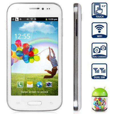 mini S4 4.3 inch Android 4.2 Quad Band Smart Phone DMDK4x12 1GHz WVGA Screen WiFi Bluetooth