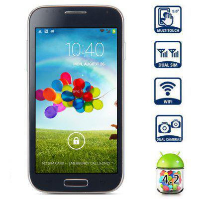 5 inch i9502 Android 4.2 3G Phablet MTK6572 Dual Core 1.2GHz WVGA IPS Screen 4GB ROM Dual Cameras