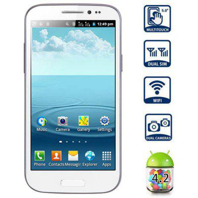 Refurbished GT-T9500 Android 4.2 Smartphone with 5.0 inch WVGA Screen SP6820 1GHz - White