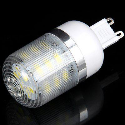 Buy WHITE G9 7W 24 SMD 5730 LED AC220V White Corn Lamp with Stripe Lamp Shade for $2.49 in GearBest store
