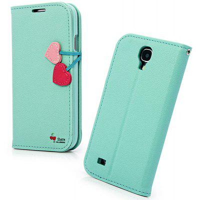 Hello Deere Cherry Series PU Leather Stand Case with Card Holder for Samsung Galaxy S4 i9500 / i9505