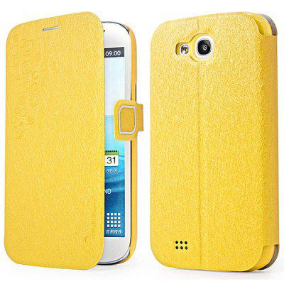 Hello Deere Feather Silk Series PU Leather + PC Stand Case with Card Holder for Samsung Galaxy Grand i9128