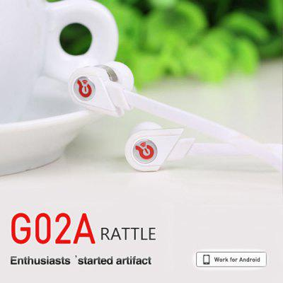 Syllable G02A Stylish Flat Wide Line Micro Speaker 3.5mm Universal In-ear Earphone with Rubber Earbud