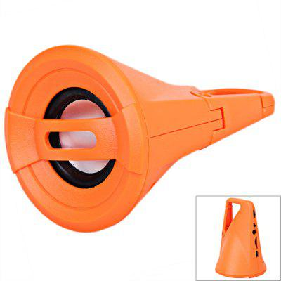 Flashlight Style Design Buckle Portable Speaker Sport Mini Speaker Support MP3/TF Card/Audio/FM