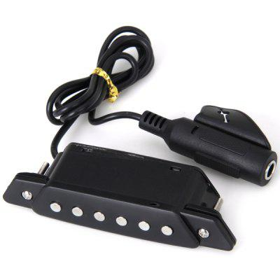 lack Boxed Belcat Soundhole Pickup W/Active Power Jack for Acoustic Guitar