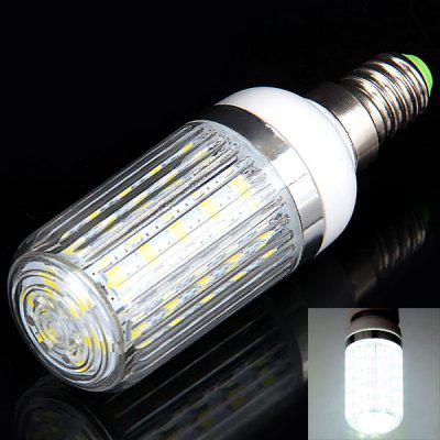 E14 36 x 5730 SMD LED 12W 1050 Lumens 110V Corn Light with Stripe Lamp Shade (White Light)