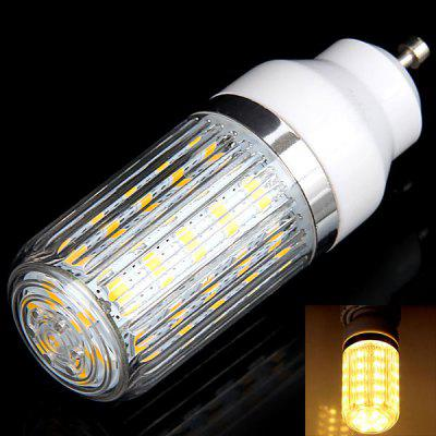 GU10 36 x 5730 SMD LED 12W 1050 Lumens 110V Corn Light with Stripe Lamp Shade (Warm White Light)