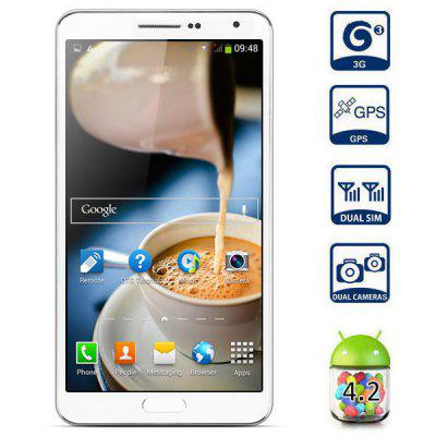 5.7 inch 3G Phablet Android 4.2 MTK6589T Quad Core 1.5GHz 1GB 8GB HD Screen Gesture Sensing OTG NFC GPS Remote 13.0MP Camera