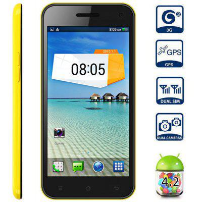 Android 4.2 5.0 inch TIMMY E82 3G Phablet MTK6582 Quad Core 1.3GHz 1GB 4GB HD OGS Screen Gesture Sensing GPS 13.0MP Camera