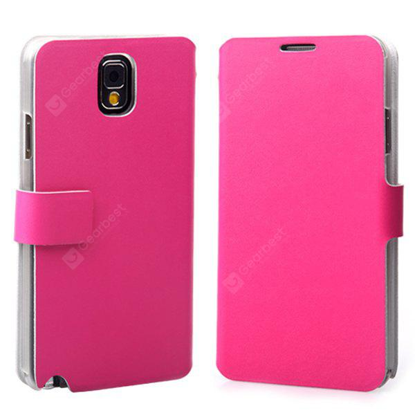 PU Leather and Plastic Material Cover Case with Unique Stand Design for Samsung Galaxy Note 3 N9000 / N9002 / N9006 / N9008