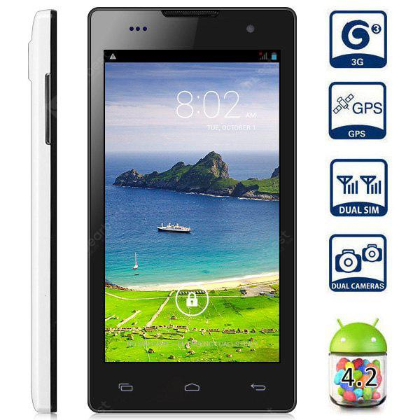 JIAKE JK11 Android 4 2 3G Smartphone with 5 0 inch QHD Screen MTK6582 Quad  Core 1 3GHz 1GB RAM 4GB ROM GPS Dual Camera