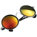Cool Round Shape Sunglasses with Red Coating PC Lens and Comfortable Frame