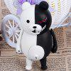 Cool Black and White Bear 11cm Plastic Figure Model Toy for Cartoon Fans