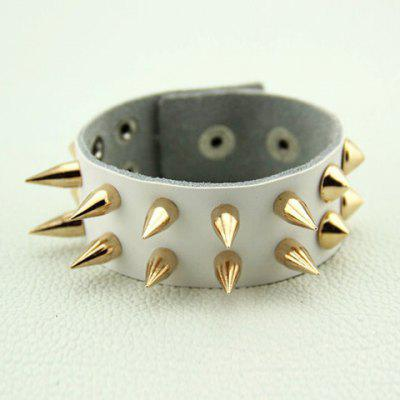 Punk Style Sharp Rivet Design Leather Bracelet For Men and Women