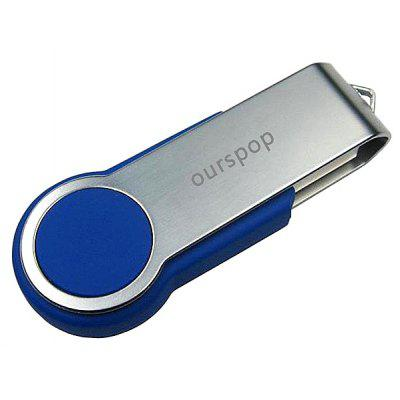 16GB Ourspop U336 ABS Plastic + Aluminum Alloy Swivel USB 2.0 Flash Drive Stick