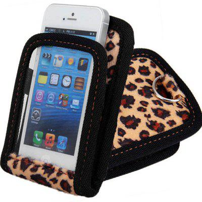 Leopard Print Car Air Outlet Mount Smartphone Holder Protective Touch Suface Bag