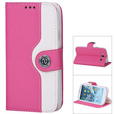 Durable and Fashionable PU + PC Protective Fastener Case for Samsung Galaxy S3 i9300