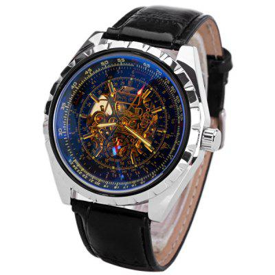 JARAGAR Hollow-out Style Men Mechanical Watch