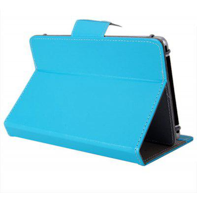 Elastic Fixing Foot Design PU Leather Protective Case with Support Function for 6.5-7 inch Tablet