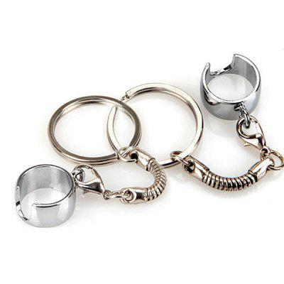 Delicate E - Cigarette Key Ring with Battery Ring Clip for EGO Series Electronic Cigarette (2 pcs)