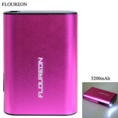 FOUREON D57 5200mAh Mobile Power Bank with Flashlight Function