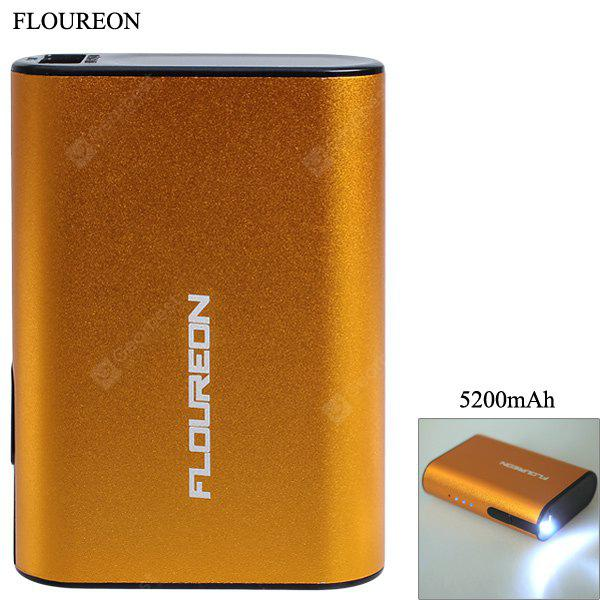 FOUREON D57 5200mAh Mobile Power Bank mit Taschenlampenfunktion
