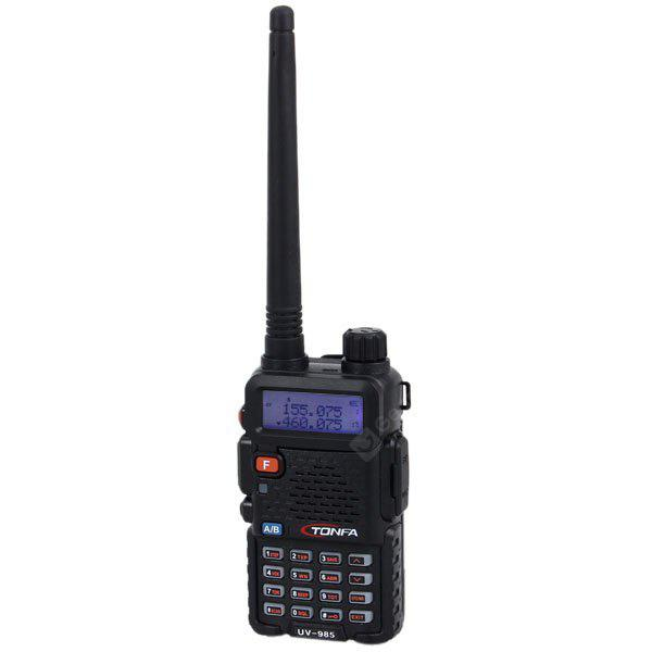 UV - 985 Profession Dual Band 2 x 128 Groups Channels Walkie Talkie VHF/UHF FM Transceiver Two - way Radio Interphone BLACK