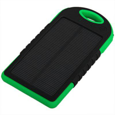 Water-proof YD-T011 5000mAh Solar Mobile Power Bank Solar Charger with Mountaineering Buckle