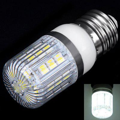 Buy WHITE E27 3W 27x5050 SMD LED AC85 265V White Corn Lamp with Stripe Lamp Shade for $4.01 in GearBest store