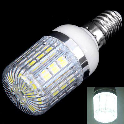 Buy WHITE E14 3W 30x5050 SMD LED AC85 265V White Corn Lamp with Stripe Lamp Shade for $3.85 in GearBest store