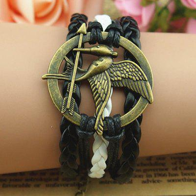 Vintage Bird and Arrow Embellished Multilayered Charm Bracelet For Women