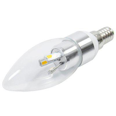 E14 200lm 3W 6 - SMD 5630 LED AC220V 6000K White LED Candle LightCandle Bulbs<br>E14 200lm 3W 6 - SMD 5630 LED AC220V 6000K White LED Candle Light<br><br>Available Light Color: Natural White,Warm White<br>Bulb Base Type: E14<br>Emitter Type: 5630 SMD LED<br>Features: Energy Saving, Long Life Expectancy, Low Power Consumption<br>Function: Home Lighting, Commercial Lighting, Studio and Exhibition Lighting<br>Luminous Flux: 200lm<br>Output Power: 3W<br>Package Contents: 1 x LED Candle Bulb<br>Package size (L x W x H): 4.5 x 4.5 x 15 cm<br>Package weight: 0.08 kg<br>Product size (L x W x H): 3.5 x 3.5 x 11.5 cm<br>Product weight: 0.03 kg<br>Sheathing Material: Plastic<br>Total Emitters: 6<br>Type: Candle Bulbs<br>Voltage (V): AC 220