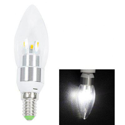 Buy WHITE E14 200lm 3W 6 SMD 5630 LED AC220V 6000K White LED Candle Light for $2.04 in GearBest store