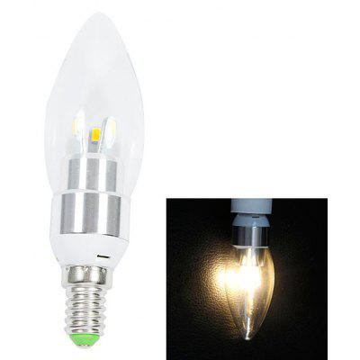 E14 200lm 3W 6 - SMD 5630 LED AC220V 2700K White LED Candle Light