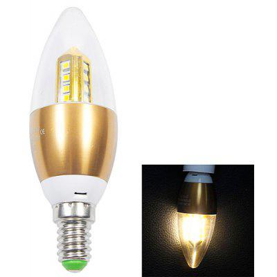 E14 280lm 4W 16 - SMD 2835 LED Warm White Candle Light  -  85 - 265V