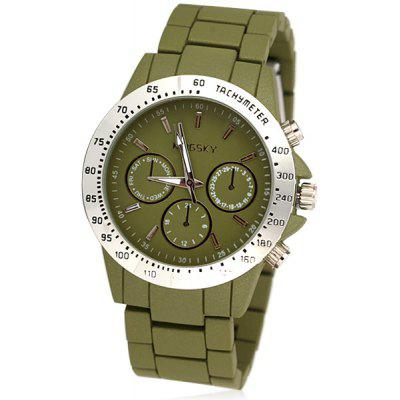 Stylish Waterproof Unisex Watch Analog with Round Dial Steel Watch Band