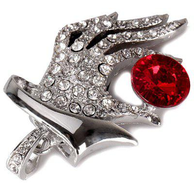 8GB Crystal Finger with Red Gemstone USB Flash Disk